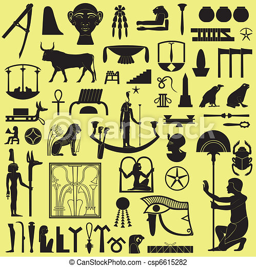 Egyptian Symbols and Signs Set 3 - csp6615282