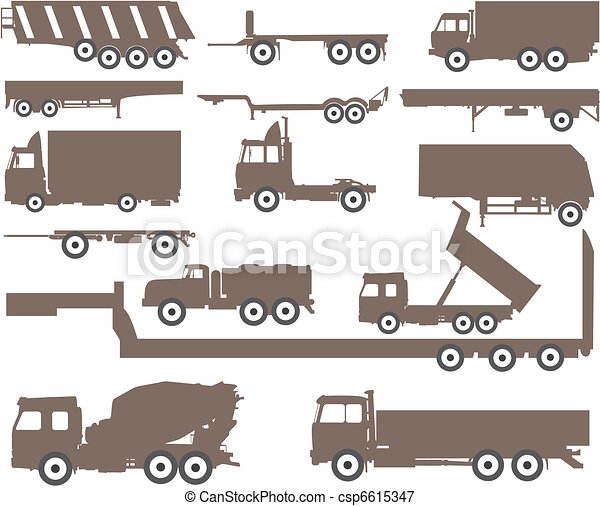 Trucks and trailers - csp6615347
