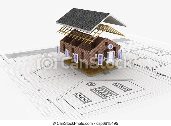 Illustrations de maison construction conceptuel image Build house online 3d free
