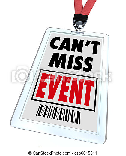 Can't Miss Event - Lanyard and Badge - csp6615511