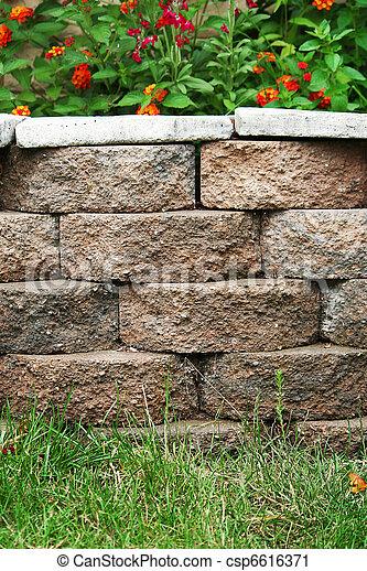 Backyard Landscape Planter - csp6616371