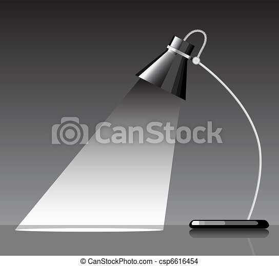 EPS Vector of desk lamp with a black background with a empty – Desk Lamp Logo