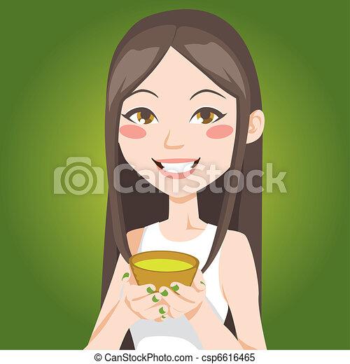 Cup of Green Tea - csp6616465