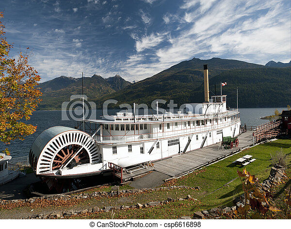 Historic Steam ship SS Moyie - csp6616898