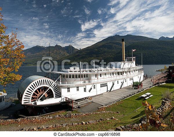 Historic Steam ship SS Moyie - csp6616898