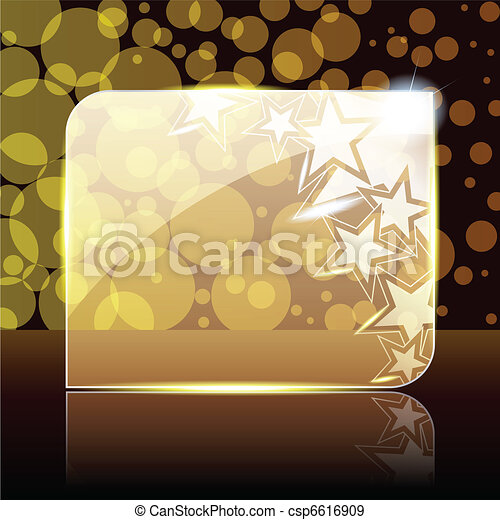 Festive gold glass banner - csp6616909