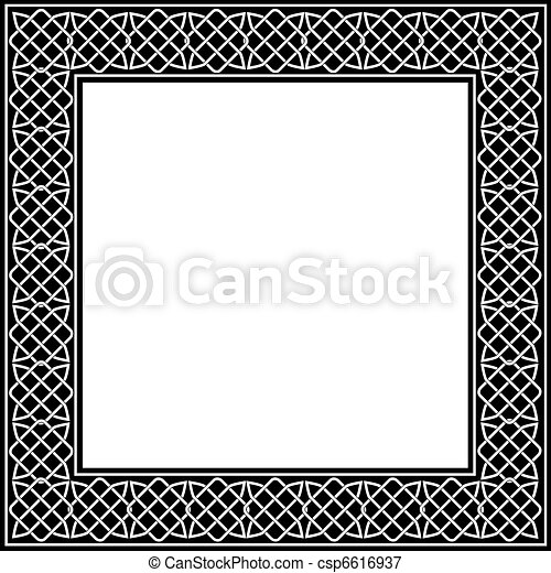 Celtic knot frame  - csp6616937