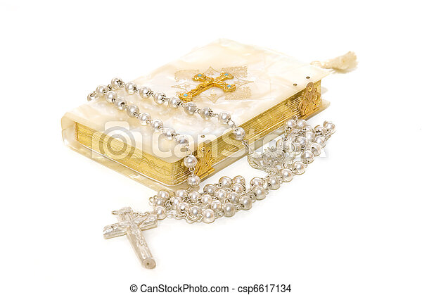 Rosary and First Communion book  - csp6617134