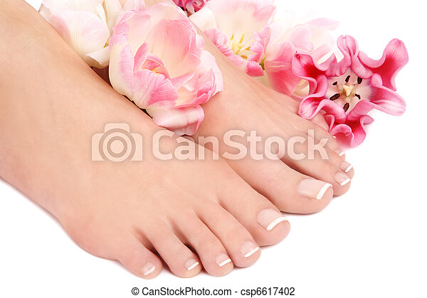 French pedicure - csp6617402