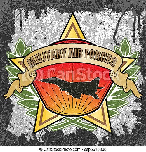 Military air forces symbol - csp6618308