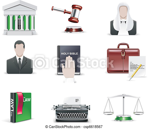 Vector law and order icon set. - csp6618567