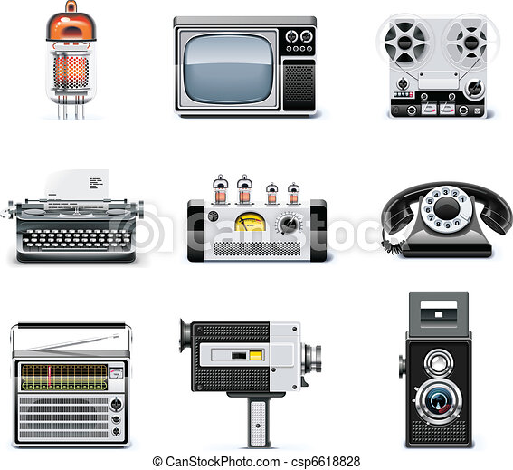 Vintage technologies icon set - csp6618828