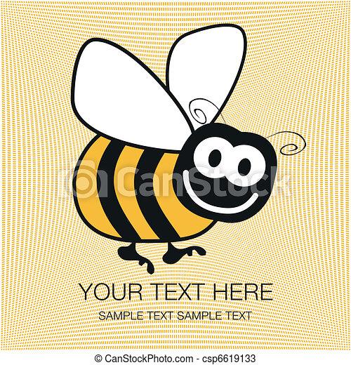 Bumble bee design. - csp6619133
