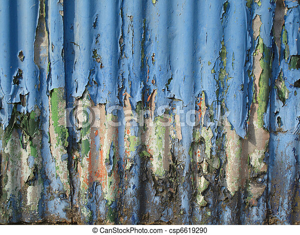 Rusty old corrugated iron - csp6619290