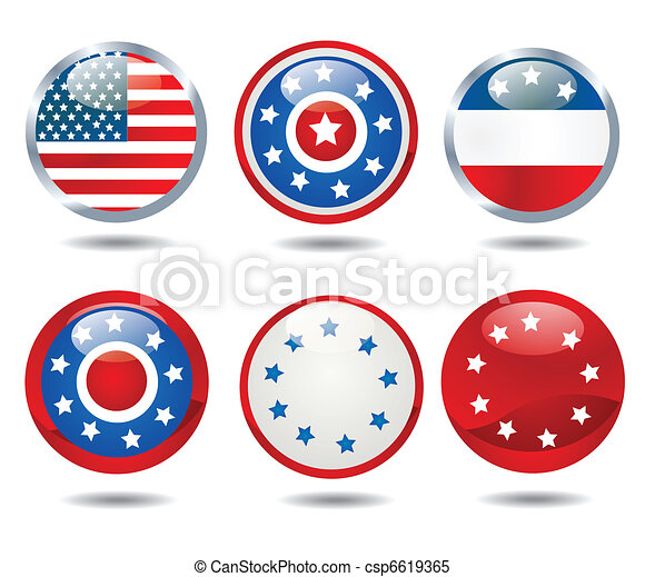 patriotic buttons - csp6619365