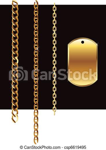 Gold set chain - csp6619495