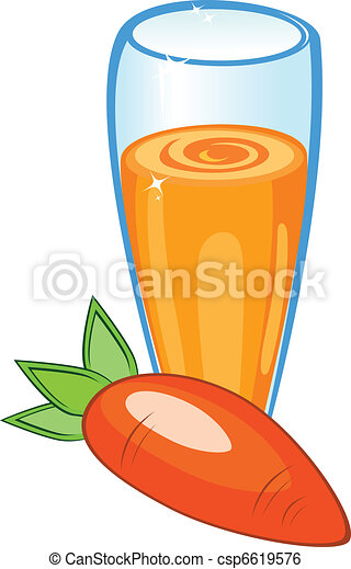 A delicious carrot juice - csp6619576