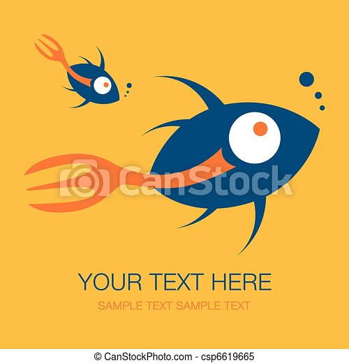 Fork tailed fish design. - csp6619665