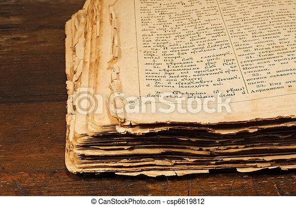 Open antique book  - csp6619812