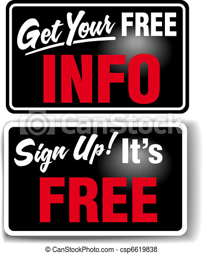 Sign up Free INFO Store Sign Set - csp6619838