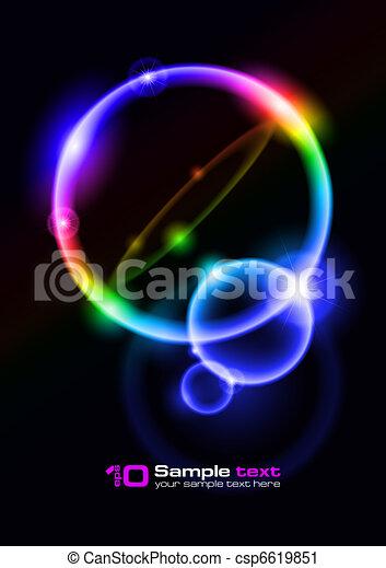 Vector abstract design. Bubbles. - csp6619851