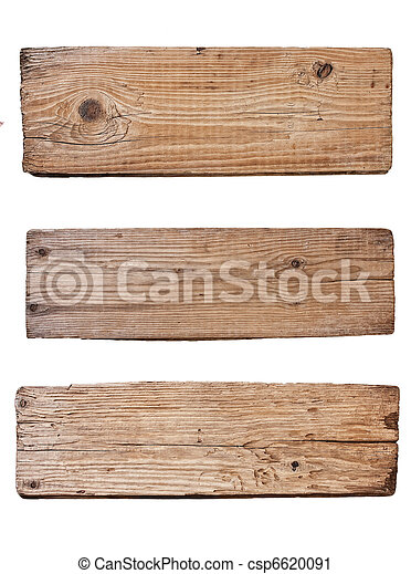 old wooden board  isolated on white background - csp6620091