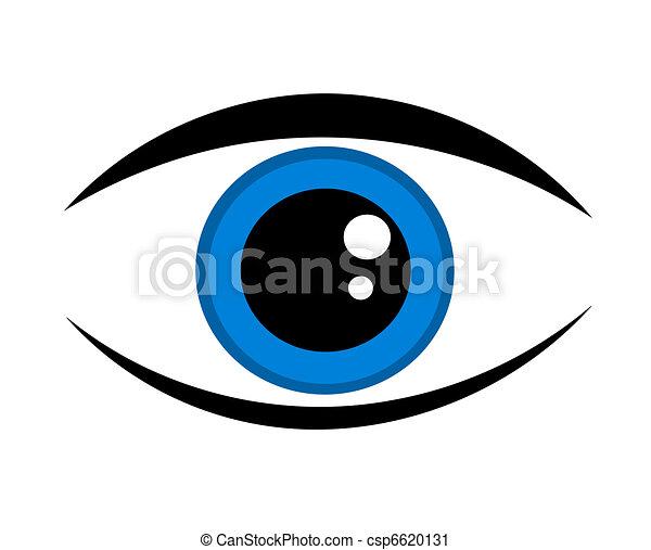 Blue eye icon - csp6620131
