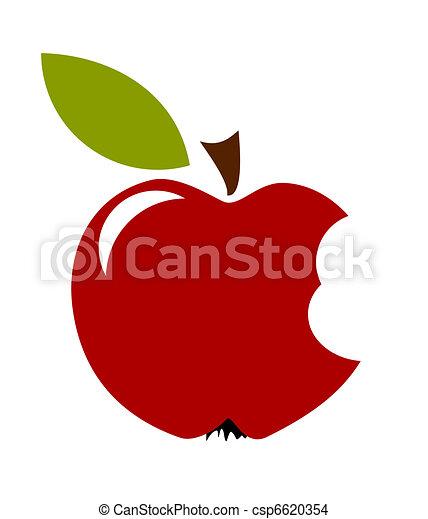 Biten Apple fruit - csp6620354