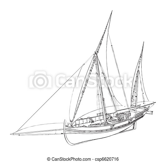 The Ancient Boat - csp6620716