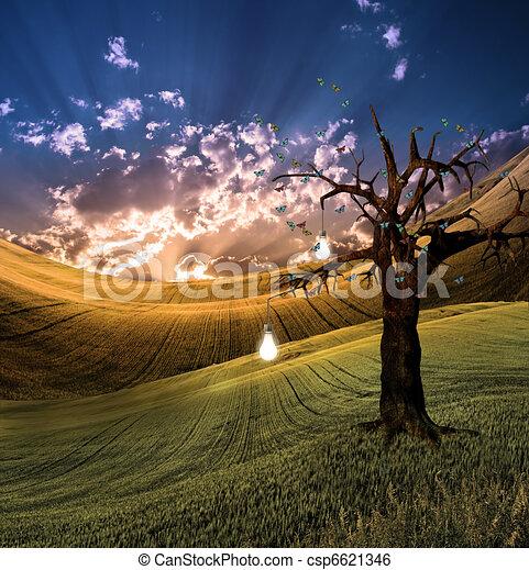 Tree of Light - csp6621346