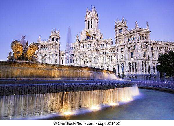 Plaza de Cibeles, Madrid, Spain. - csp6621452