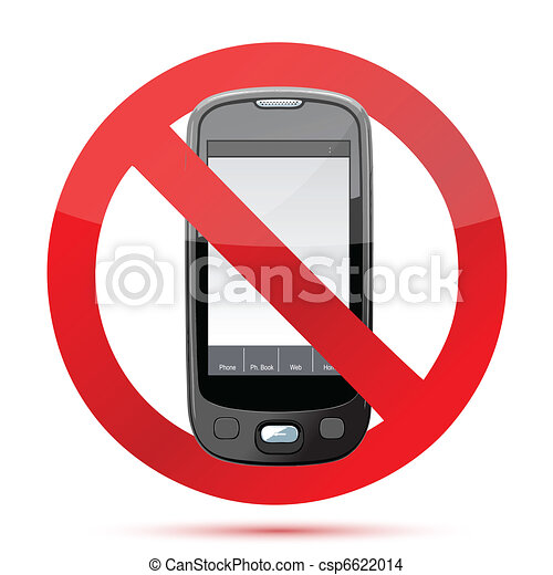 No cell phone sign illustration  - csp6622014