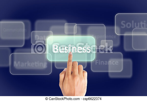 Business hand press touch screen - csp6622374
