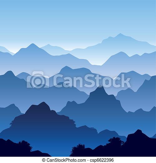 clip art vecteur de montagne seamless paysage seamless vecteur csp6622396 recherchez. Black Bedroom Furniture Sets. Home Design Ideas