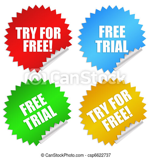 Free trial stickers - csp6622737