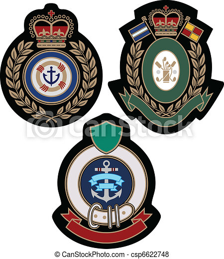 royal emblem academic shield - csp6622748