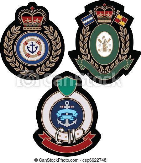 royal emblem academic shield - csp6622748