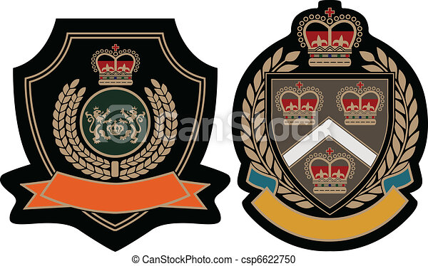 royal emblem academic shield - csp6622750