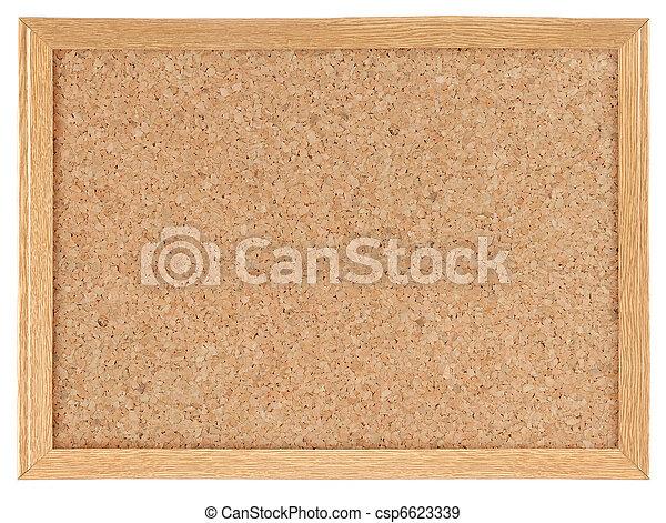 Cork board - csp6623339