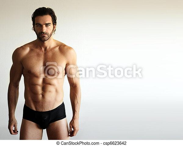 sexy, modelo, macho, condición física - csp6623642