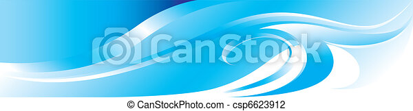 Vector blue flourish background - csp6623912