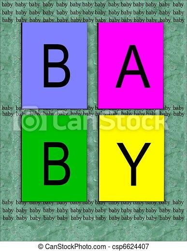 baby  announcement background - csp6624407