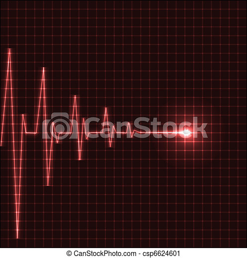 Abstract heart beats cardiogram - csp6624601
