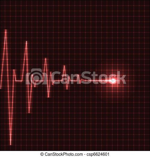 Abstract heart beats cardiogram - csp6624601