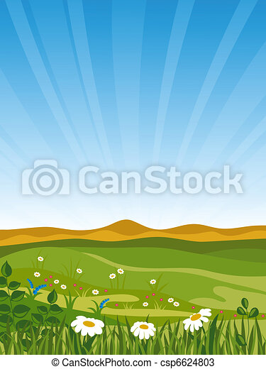 Summer landscape. - csp6624803