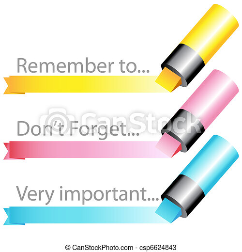 Highlighter marker ribbon set - csp6624843