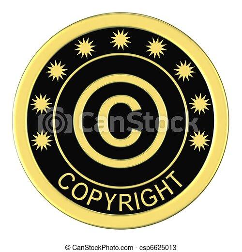 zeichnungen von ehrennadel mit a copyright zeichen freigestellt auf csp6625013. Black Bedroom Furniture Sets. Home Design Ideas