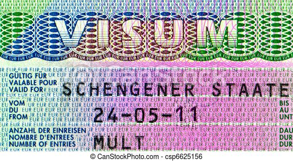 Element of the Schengen visa - csp6625156