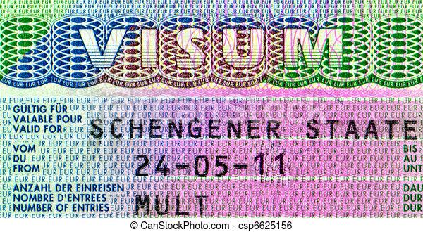 Element of the Schengen visa - csp6625156