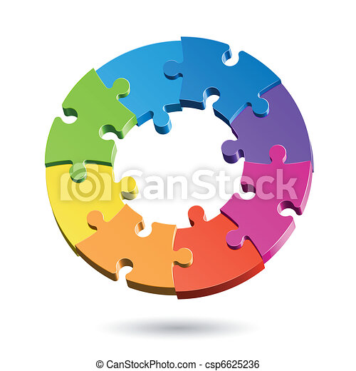 Jigsaw puzzle circle - csp6625236